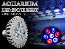 交換球 LED スポットライト 青4/赤3 照射角60度 水槽用照明 LED照明 LEDライト 【アクアリウム 熱帯魚 淡水魚 海水魚 水草 サンゴ イソギンチャク ミドリイシ シャコガイ 観賞魚 水槽 レイアウト】