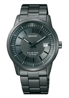 シチズンレグノメンズ watch solar technical center standard oar black KH2-146-51