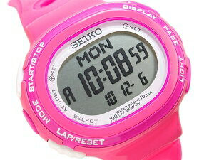 Seiko Rukia ladies watch pink running running style digital SSVD001