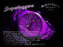 romago design ロマゴデザイン 男女兼用腕時計 紫 rm029-0290al-bupu