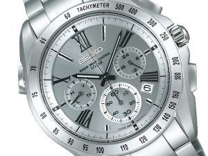 SEIKO Brights chronograph electric wave solar men watch silver Yu Darvish image character SAGA065