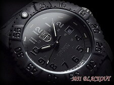 ��LuminoxNAVYSEALsColorMarkSeries�ۥ�ߥΥå�������ӻ��ץ�����֥�å���С�3051BLACKOUT