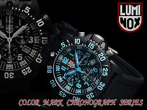 Luminox men's Chronograph Watch black blue rubber 3083