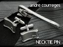 ANDRE COURREGES アンドレ・クレージュ おしゃれ メンズ ネクタイピン タイバー 銀 act3505
