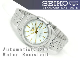 SEIKO 5 men's self-winding watch watch silver X gold dial silver combination stainless steel belt SNKL17K1