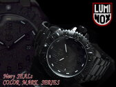 【LUMINOX NAVY SEALs Color Mark Series】ルミノックス ブラックアウト メンズ腕時計 オールブラック ステンレスベルト 3152 BLACKOUT 3152-BO【ネコポス不可】
