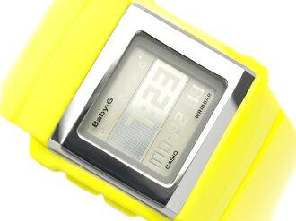 Casio baby G imports overseas model digital Watch series white CASKET SLIM flip LCD lemon yellow gloss stock urethane belt BG-2001-9DR