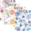 【Showy Styleクリップボード A4サイズ 二つ折りタイプ】華やかな花デザインのクリップボード※1個のみDM便可能[カミオ][M在庫]【RCP】