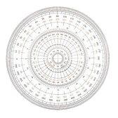 【全円分度器 18cm型 1-822-0002】360度計測できる分度器※DM便(選択必須)可能[ウチダ]
