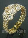 【メーカー直輸入】クレオパトラバングル<タイプC>☆金色のバングルとキラキラのスワロフスキーがとても綺麗です☆