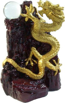 With a Crystal Dragon ( H20cm ) in sansui Dragon [Feng Shui toy, toy good luck and lucky figurines: top five finger Dragon Shoushan Stone fengshui figurines dragon figurines, ueyama Dragon, year of the Dragon Zodiac collectibles