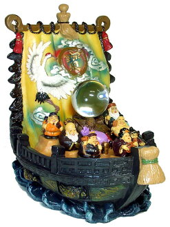 It is an ornament of the <good luck, good luck the Seven Deities of Good Luck Treasure Ship (H approximately 25cm) belonging to good luck crystal (color)>