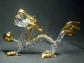 Crystal Emperor Dragon M [Feng Shui toy, toy good luck and lucky figurines: handmade ~ gem source of power with five finger エンペラードラゴン, dragon figurines, Dragon Zodiac collectibles