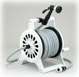 三洋化成 英国ガーデン風デザインの本格派ホースリール アルミ鋳物製の高級ホースリール☆ロゼットシリーズ ホワイト20790