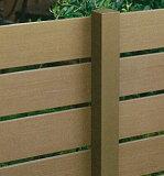 ディーズガーデン/アルファウッド横張りタイプ専用支柱 〜リアルな木目の目隠し樹脂フェンス〜 アルミ柱60角タイプ
