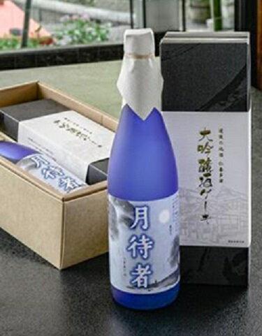 水口酒造 清酒 月待者・大吟醸酒ケーキセット(TSKE-1) 720ml×1400g×1 |4988321821404:食品(直)