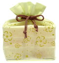 送料無料 【マルヤス】トコゼリー巾着袋 6個入り 花便り(グリーン)|41148|
