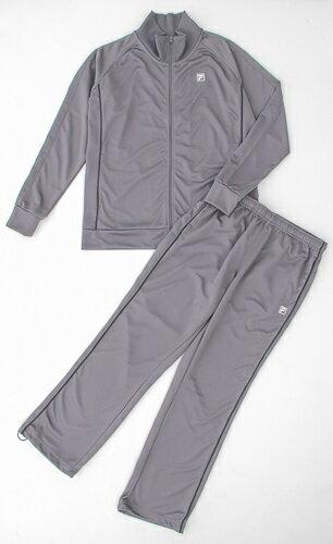 在庫処分 FiLa レディースジャージスタンドジャケット&ジャージロングパンツ(グレー)|650651:スポーツ