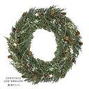 COVENT GARDEN スノーリーフ リース LEDライト付き 直径45cm 【クリスマスリース】【あす楽対応】