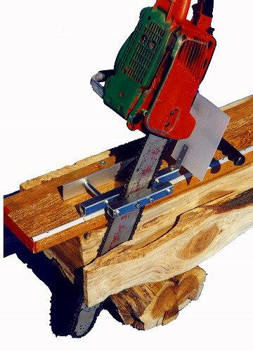 丸太を製材する用具 ミニミル丸太から柱材を製材する際威力を発揮