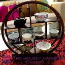 THE-SECRET-GARDEN シノワズリ 珍品棚 中国茶器 飾り棚 木製 丸型 小【中国家具