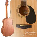 NEW ジャスミン by Takamine S35 ナチュラル Dreadnaught Acoustic Guitar with QwikTune エレクトロニック オート-Tuner - AUTHORIZED エレクトロニック DISTRIBUTOR (海外取寄せ品)