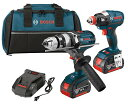 Bosch CLPK224-181 18-volt Lithium-イオン 2-Tool コンボ キット with 1/2-インチ ハマー Drill/Driver, Impact ドライバー, 2 Batteries, Charger and Contractor Bag 「汎用品」(海外取寄せ品)