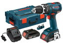 Bosch HDS182-02L 18-volt Brushless 1/2-インチ Compact タフ ハマー Drill/ドライバー with 2.0Ah Batteries, Charger and L-ボックス-2 by Bosch 「汎用品」(海外取寄せ品)