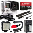 GoPro HERO4 シルバー Edition 4K アクション Camera with 64GB MicroSD Card, バッテリー with Charger, Opteka xGrip アクション ビデオ Stabilizer, セルフ Selfie, ナイト LED Light, ミニ Tripod, Cleaning キット (CHDHY-401) 「汎用品」(海外取寄せ品)