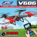 JJRC V686 5.8g FPV Headless Mode Rc Quadcopter with Hd Camera モニター 「汎用品」(海外取寄せ品)