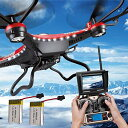 Womail JJRC H8D 6-Axis Gyro 5.8G FPV RC Quadcopter Drone HD Camera+Monitor+2 バッテリー 「汎用品」(海外取寄せ品)