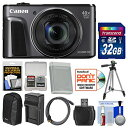 Canon PowerShot SX720 HS Wi-Fi デジタル Camera with 32GB Card + ケース + バッテリー & Charger + Tripod + HDMI ケーブル + キット 「汎用品」(海外取寄せ品)