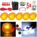 CCIYU 5X アンバー 9069A Cab Marker Clearance Light+Switch+LED for Chevrolet truck pickup T10 W5W 168 921 912 194 175 (海外取寄せ品)