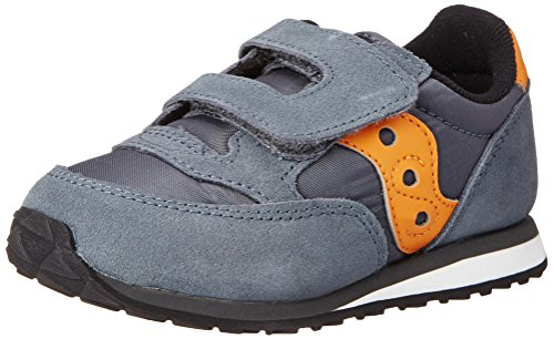 Saucony ジャズ Hook and Loop スニーカー (Toddler/リトル Kid),Grey/Orange,9.5 M US Toddler (海外取寄せ品)