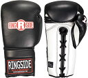 Ringside Imf テク Sparring レース Up Boxing グローブ (Black, 18-Ounce) (海外取寄せ品)