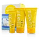 CliniqueSummer In Clinique Coffret: Face Cream SPF 40 50ml+ Face/Body Cream SPF 15 150ml + After Sun Rescue Balm With【楽天海外直送】