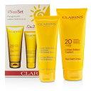 ClarinsSunSet Kit: Sun Care Cream SPF 20 200ml/7oz + After Sun Moisturizer 100ml/3.4ozクラランスSunSet Kit: Sun Ca【楽天海外直送】
