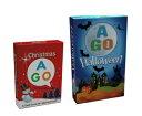 送料無料!【AGO クリスマス + ハロウィーン カードゲーム セット】 AGO Christmas Halloween set楽しい英語カードゲーム!家族全員...