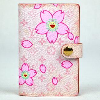Louis Vuitton LOUIS VUITTON pocketbook cherry blossom M92022 accessory Organizer Handbook cover [02P04Jul15]