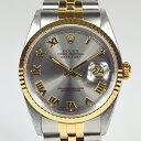 ロレックス / ROLEX:デイトジャストYG×SS ローマンインデックス 16233 W番 16233 時計 腕時計 メンズ[男性用]【中古】
