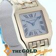 カルティエ / Cartier:サントスドゥモワゼルLM 金無垢 W25062X9 時計 腕時計 ボーイズ[男女兼用]【中古】
