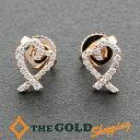 ティファニー / Tiffany&Co. : ラビングハート ピアス 750RG フルダイヤ 新品仕上済 ジュ