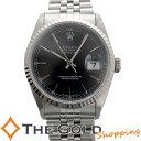 【中古】ロレックス デイトジャスト 16234 W番 磨き済 黒文字盤 バーインデックス SS AT ステンレス ROLEX 腕時計 メンズ ウォッチ 男性用