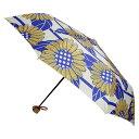 ショッピング折りたたみ 和傘 晴雨兼用 折りたたみ傘 傘 かさ 和風傘 雨傘 和風 和柄 レディース ブランド UVカット 【和柄テキスタイル三つ折りたたみ傘-向日葵 バニラ】