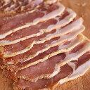 (無添加・砂糖不使用)手作りバックベーコンスライス(Back Bacon)/塩漬け豚肉【YDKG