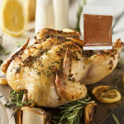 ローストチキン用 丸鶏 1.2kgサイズ+チキンスパイス20gセット グリラー(直輸入品)