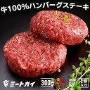無添加!グラスフェッドビーフ(牧草牛)100% ハンバーグステーキ 150g×2 牛肉のハンバーグ ...