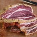 (砂糖不使用・無添加)【手作り】バックベーコン(Back Bacon) ブロック/塩漬け豚肉