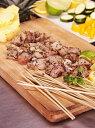 ワニ肉 竹串付き味付けクロコダイルキューブ 150g (ワニ串、ケバブ)