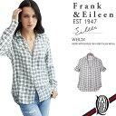 【正規取扱店】Frank&Eileen EILEEN WHGM レディースシャツ WHITE WITH DOUBLE GRAY GRID ITALIAN MODAL フランクアンドアイリーン エイリーン